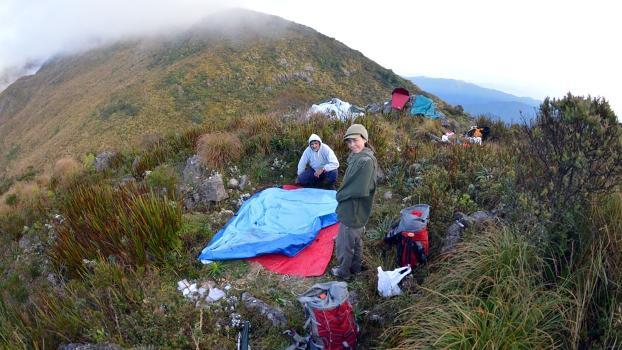Segundo acampamento, logo acima do vale do Ruah