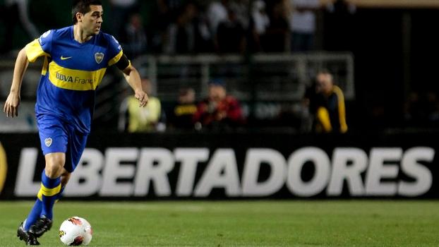 Riquelme durante a final da Libertadores, perdida para o Corinthians no Pacaembu