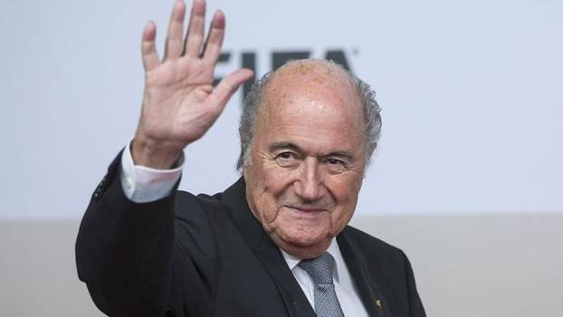 Presidente da Fifa, Joseph Blatter, antes de reunião na Irlanda do Norte