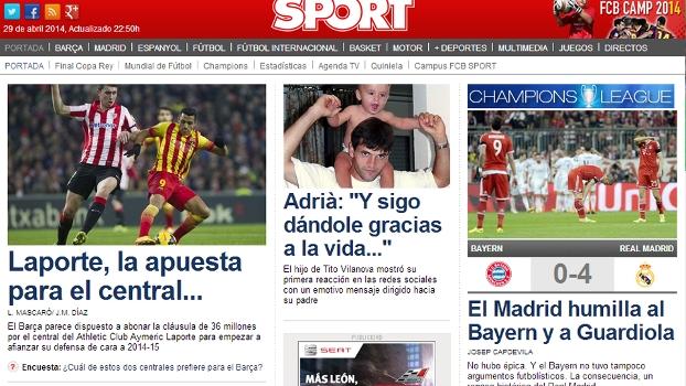 Sport 'escondeu' o Real, mas admitiu humilhação contra Bayern e Guardiola