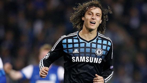 David Luiz, do Chelsea, em ação durante jogo da Champions League