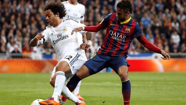 Duelo de brasileiros: Marcelo e Neymar disputam o Superclássico
