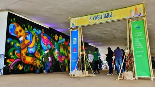 Portal de entrada do Viva a Mata 2014.