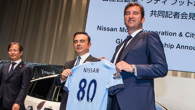Nissan e Manchester City anunciaram parceria nesta quinta-feira