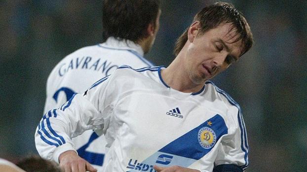 Valentin Belkevich, em ação pelo Dínamo de Kiev, em que foi capitão, em 2006