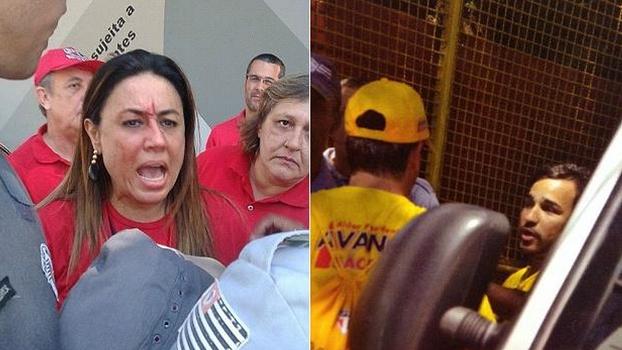 Secretária do candidato da oposição Kalil Rocha Abdalla foi ferida durante votação