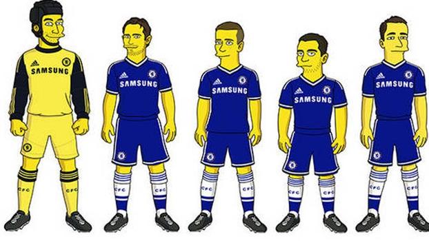 Jogadores do Chelsea adaptados aos Simpsons