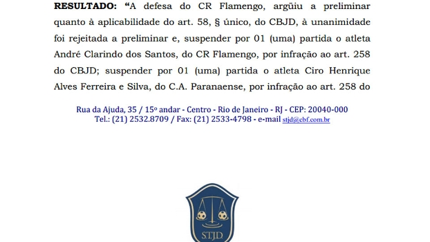 STJD Flamengo André Santos